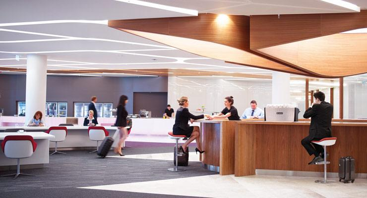 Virgin Australia lounges with meeting rooms
