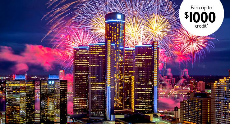 City Fireworks Earn Up to $1000 Credit Offer