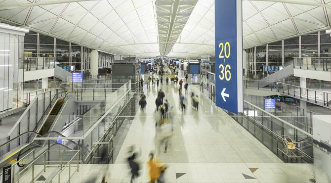 top airports to fly into - hong kong